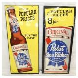 26X60 PABST BLUE RIBBON SIGNS