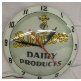 ORIG.BILTMORE DAIRY DOUBLE BUBBLE CLOCK