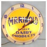 ORIG. MARIGOLD DAIRY BUBBLE CLOCK