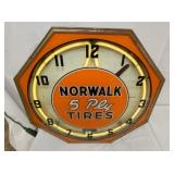 VIEW 2 TOPSIDE NORWALK TIRES CLOCK