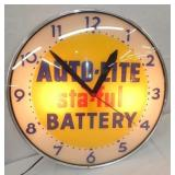 18IN AUTO LITE BATTERY CLOCK