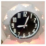 25IN DOUBLE NEON DECO CLEVELAND CLOCK