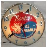 12IN BORDENS ICE CREAM PAM CLOCK