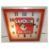 15IN SAPOLIN PAINTS LIGHTED CLOCK