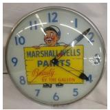 12IN MARSHALL WELLS PAINTS CLOCK