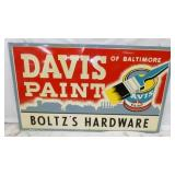 58X34 DAVIS PAINTS FRAMED SIGN
