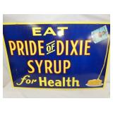 36X23 PRIDE OF DIXIE SYRUP SIGN