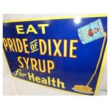 VIEW 2 CLOSEUP PRIDE DIXIE SYRUP SIGN
