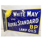 8X12 PORC. WHITE MAY BP LAMP OIL FLANGE