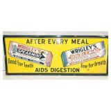 36X14 1951 RARE WRIGLEYS GUM SIGN