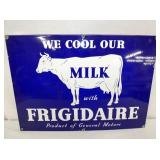 19X14 PORC. FRIGIDAIRE MILK SIGN