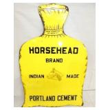 20X28 PORC. HORSEHEAD BRAND CEMENT SIGN