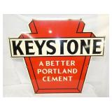 36X30 DIE CUT KEYSTONE CEMENT SIGN