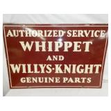 36X24 PORC. WHIPPET WILLYS-KNIGHT SIGN