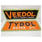 PORC VEEDOL & TYDOL SIGNS