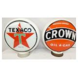 ORG MILKGLASS TEXAC/CROWN PUMP GLOBES