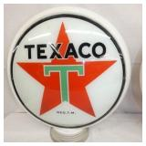 ORG. MILKGLASS TEXACO PUMP GLOBE