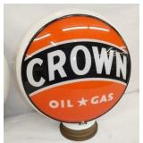 ORG MILKGLASS CROWN PUMP GLOBE