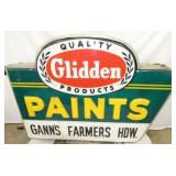 60X48 EMB. GLIDDEN PAINTS LIGHTED SIGN