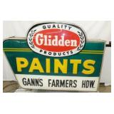 VIEW 2 SIDE 2 EMB. GLIDDEN PAINTS SIGN