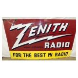 60X36 PORC. ZENITH RADIO SIGN
