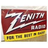 VIEW 2 PORC. ZENITH RADIO DEALER SIGN