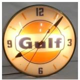15IN ORIG. GULF PAM CLOCK