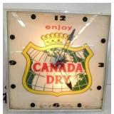 16IN CANADA DRY PAM CLOCK