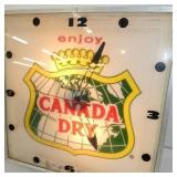 VIEW 2 CLOSEUP CANADA DRY CLOCK