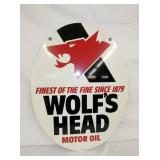 VIEW 2 SIDE 2 WOLFS HEAD SIGN