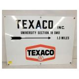 26X19 PORC. TEXACO OIL SIGN