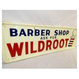 VIEW 3 LEFTSIDE EMB. BARBER SHOP SIGN
