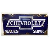 30X14 PORC. CHEVROLET DEALER SIGN