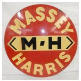 30IN PORC. MASSEY HARRIS DEALER SIGN