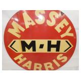VIEW 2 CLOSEUP MASSEY HARRIS PORC. SIGN