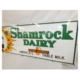 VIEW 3 PORC. SHAMROCK DAIRY SIGN
