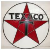 28IN TEXACO STAINED GLASS