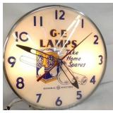 14IN GE LAMPS CLOCK