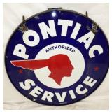 48IN PORC. PONTIAC DEALER SIGN