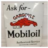20X24 PORC. MOBILOIL W/ GARGOYLE