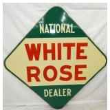 63IN PORC. WHITE ROSE DEALER SIGN