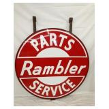 5FT. PORC. RAMBLER SERVICE DEALER SIGN