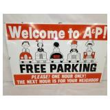36X24 PORC. A&P PARKING SIGN