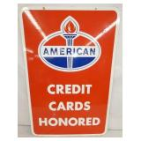 24X36 PORC. AMERICAN CREDIT CARDS SIGN