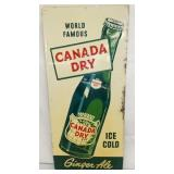 13X30 EMB. CANADA DRY SIGN