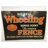 27X19 WHEELING FENCE SIGN