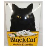 14X20 PORC. BLACK CAT CIG. SIGN