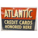 10X15 ATLANTIC CREDIT CARDS SIGN