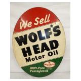 VIEW 2 CLOSEUP WOLFS HEAD SIGN