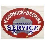 32X24 PORC. MCCORMICK DEERING SERVICE